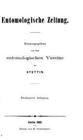 Entomologische Zeitung: Bände 50-51