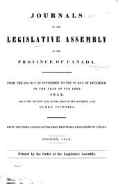 Journals of the Legislative Assembly of the Province of Canada: From the 14th Day of June .. Being the First-8th Provincial Parliament ..., Volume 3