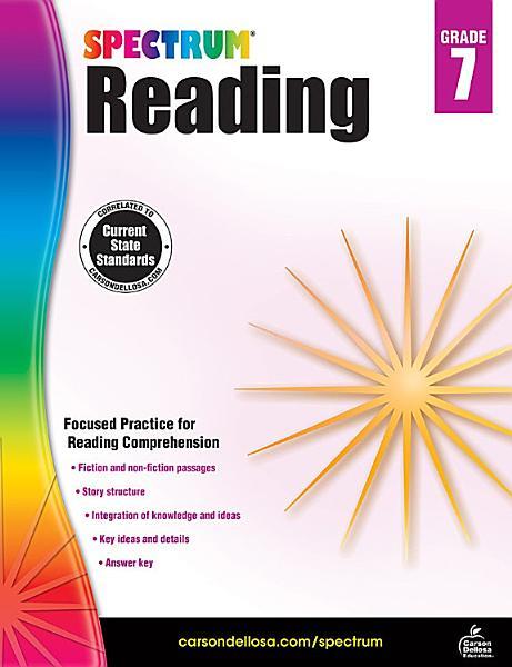 Spectrum Reading Workbook  Grade 7