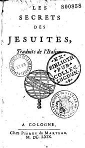 Les secrets des Jésuites, traduits de l'italien