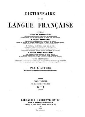 Dictionnaire de la langue fran  aise PDF