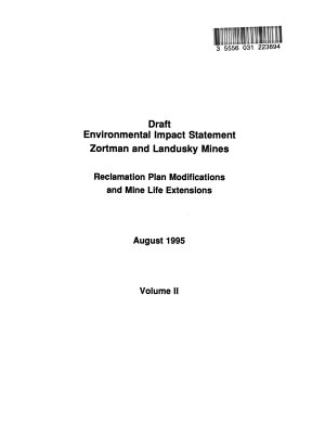 Zortman and Landusky Mines Reclamation Plan Modifications and Mine Life Extensions