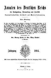 Annalen des Deutschen Reichs für Gesetzgebung, Verwaltung und Volkswirtschaft: Band 17