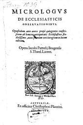Micrologus de ecclesiasticis Observationibus