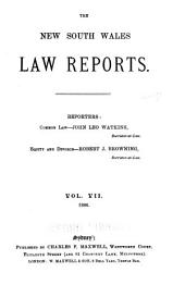 The New South Wales Law Reports, 1880-1900: Volume 7