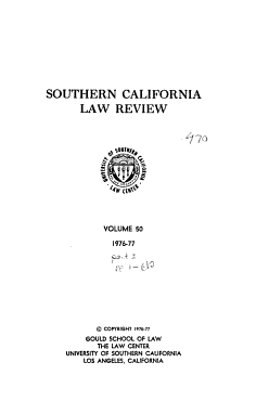Southern california law review PDF