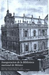 Inauguracion de la Biblioteca nacional de México: abril 2 de 1884