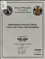 Impediments Faced by Elderly Voters and Voters with Disabilities PDF
