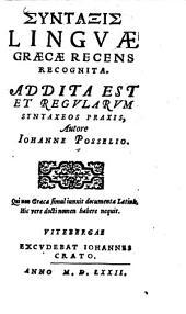 Syntaxis Linguae Graecae Recens Recognita0: addita est et regularum sintaxeos praxis