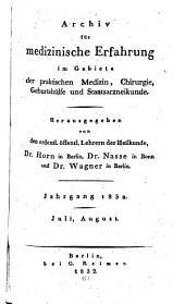 Archiv für medizinische Erfahrung im Gebiete der praktischen Medizin, Chirurgie, Geburtshülfe und Staatsarzneikunde: Band 62