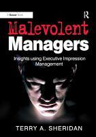 Malevolent Managers PDF