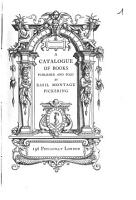 A Catalogue of Books Published and Sold by Basil Montagu Pickering PDF