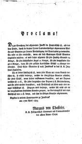 Proclama! Da zur Erreichung des allgemeinen Zwecks die Hauptabsicht ist, alle von dem Feinde, durch die braven Tiroler Landesvertheidiger abgenommene Waffen und Munition zur fernern Vertheidigung des Vaterlandes zu verwenden ...: Innsbruck am 17ten April 1809