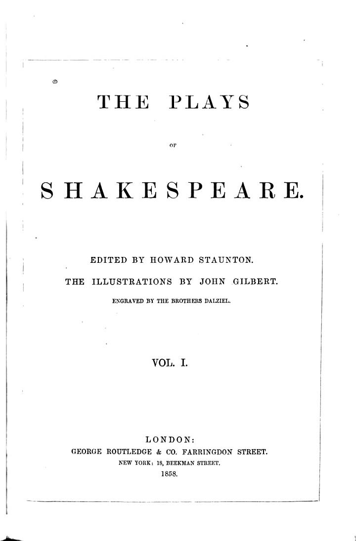 The Plays of Shakespeare with the Poems