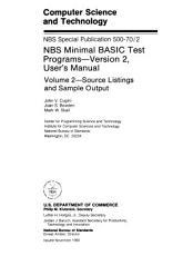 NBS Minimal BASIC Test Programs  Source listings and sample output PDF