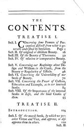 An Inquiry Into the Original of Our Ideas of Beauty and Virtue: In Two Treatises ...