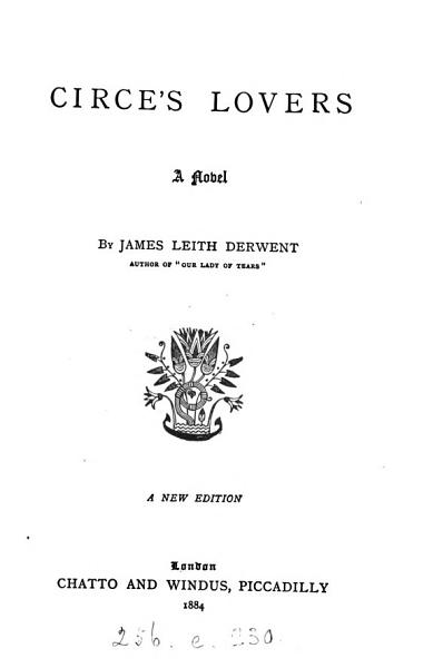 Download Circe s lovers  by James Leith Derwent Book