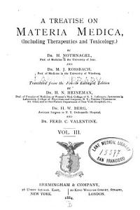 A Treatise on materia medica  including therapeutics and toxicology  v  3  1884 PDF