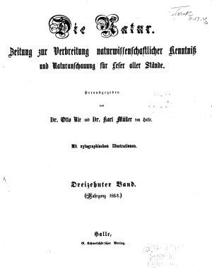 Die Natur  Zeitung zur Verbreitung naturwissenschaftlicher Kenntniss und Naturanschauung f  r Leser aller St  nde PDF