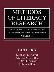 Methods Of Literacy Research Book PDF