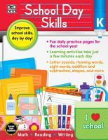 School Day Skills  Grade K PDF