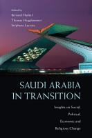 Saudi Arabia in Transition PDF