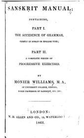 Sanskrit Manual: Parts 1-2