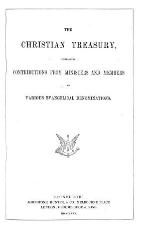 The Christian treasury  and missionary review   PDF