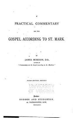 A Practical Commentary on the Gospel According to St  Mark PDF