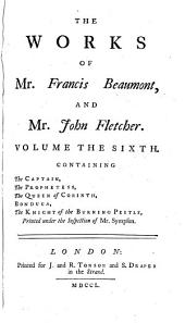 The Works of Francis Beaumont and John Fletcher: Volume 3