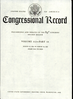 Proceeding And Debates Of The 89th Congress Second Session PDF