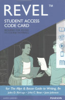 Revel for The Allyn   Bacon Guide to Writing Revel Access Card PDF