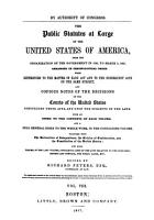 The Public Statutes at Large of the United States of America  Treaties between the United States of America and foreign nations PDF