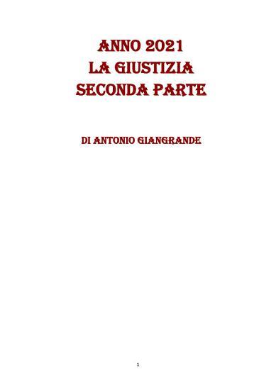 ANNO 2021 LA GIUSTIZIA SECONDA PARTE PDF