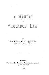 A Manual of Vigilance Law PDF