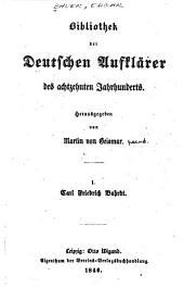 Bibliothek der deutschen Aufklärer des achtzehnten Jahrhunderts: Bände 1-5