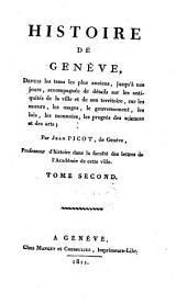 Histoire de Geneve depuis les tems les plus anciens jusq'a nos jours: Volume2