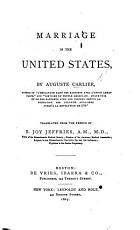 Marriage in the United States     Translated     by B  Joy Jeffries  etc PDF