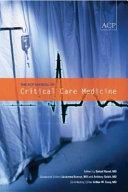 The Acp Manual of Critical Care Medicine PDF