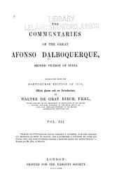The Commentaries of the Great Afonso Dalboquerque, Second Viceroy of India: Issue 62