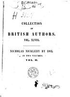 The life and adventures of Nicholas Nickleby PDF