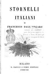 Stornelli italiani di Francesco Dall'Ongaro