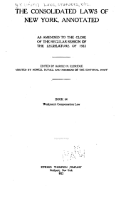 McKinney's Consolidated Laws of New York Annotated: Book 64