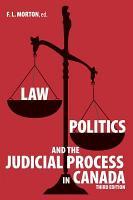 Law  Politics and the Judicial Process in Canada PDF