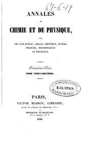 Annales de chimie et de physique: Volume27