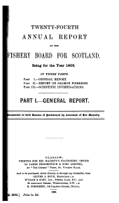 Annual Report of the Fishery Board for Scotland for the Year Ended ..
