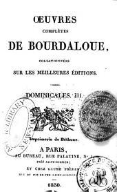 Oeuvres complètes de Bourdaloue: Volumes11à12