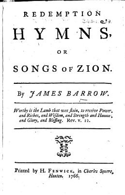 Redemption Hymns  or Songs of Zion   With supplement   PDF