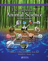 Encyclopedia of Animal Science    Two Volume Set  PDF