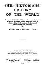 The Historians' History of the World: The British colonies, The United States (early colonial period)